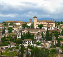 Albaicín desde Alhambra Sticker