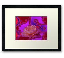 Floating beauty Framed Print
