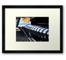 Old car bumper Framed Print