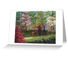In the Azalea Garden Greeting Card
