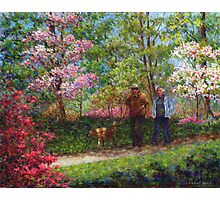 In the Azalea Garden Photographic Print