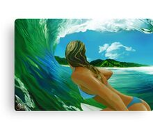 Girl in the sea Canvas Print