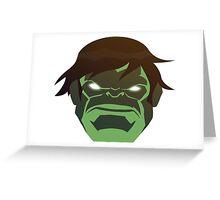 Hulk, The Incredible Avenger Greeting Card