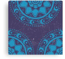 Grunge blue ornament 2 Canvas Print