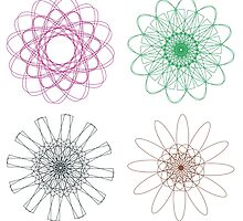 Colorful Spirographs 2 by AnnArtshock