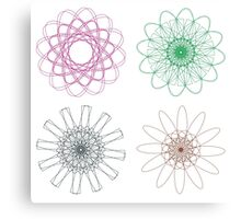 Colorful Spirographs 2 Canvas Print