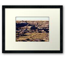 Prairie Canyon Framed Print