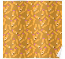 Pencil pattern Poster