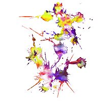 vibrant splats Photographic Print