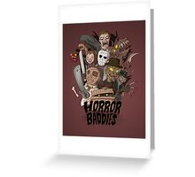 Horror Baddies Greeting Card
