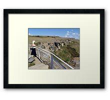 Buffalo Jump Framed Print