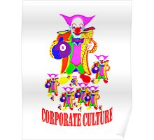 CORPORATE CULTURE CLOWNTOWN 101 Poster