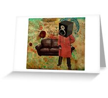 Vintage Mania Throw Pillow Greeting Card