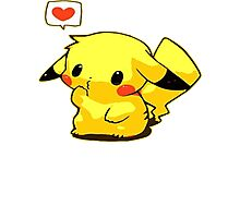 Pikachu Loves You Photographic Print