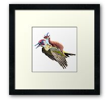 Flying Woodpecker Weasel Knievel Meme Framed Print