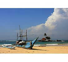 Catamaran and Temple Photographic Print