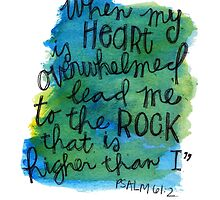 Psalm 61:2 Watercolor Print by Bumble & Bristle
