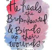Psalm 143:7 Watercolor Print by Bumble & Bristle