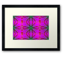 Frosted Cranberry Glass Framed Print