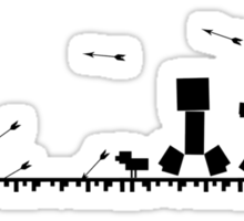 Minecraft chase Sticker