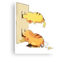 Pikachu Plug Canvas Print