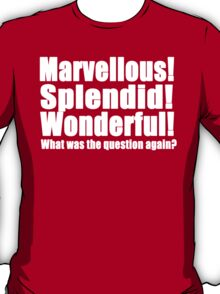 Marvellous! Splendid! Wonderful! (W) T-Shirt