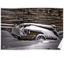 """Snow Covered Wagon"" Poster"