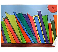 Books on shelf Poster