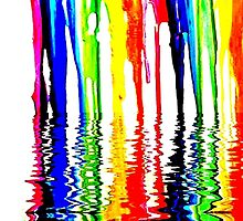 "Rainbow of Crayons ""Melting"" in 120* F. by WhiteDove Studio kj gordon"