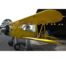 yellow navy bi-plane Photographic Print