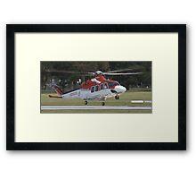 Ambulance Helecopter Framed Print