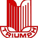 Triumph Shield Logo - Red by JustBritish