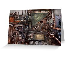 Steampunk - Machine - All the bells and whistles  Greeting Card