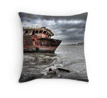 The Shipwreck Throw Pillow