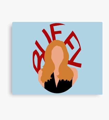 Buffy Silhouette  Canvas Print