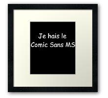 comic sans ms Framed Print