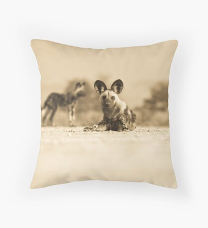Painted Pups Throw Pillow