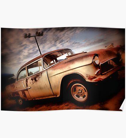 Viva oxidado Chevy viejo! Poster