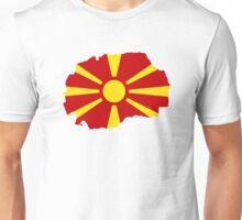 Macedonia map flag Unisex T-Shirt