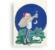 The Girl And The Firefly Canvas Print