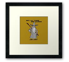 Gandalf The Lost Framed Print