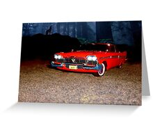 Christine - Plymouth 1958 Greeting Card