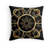 Incendia -- Sacred Gold Collection -- Golden Alchemy Gate  Throw Pillow