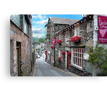 Slate Houses in the Lake District - Reworked Canvas Print