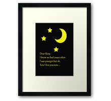 Dear Sleep, I love you Framed Print