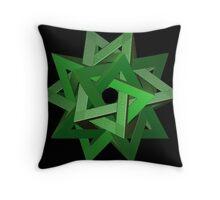Incendia -- Complex Polyhedron Throw Pillow