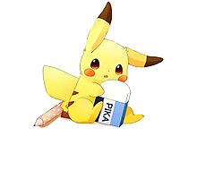 Pikachu Eraser Photographic Print