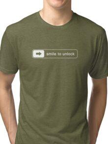 Smile to unlock Tri-blend T-Shirt