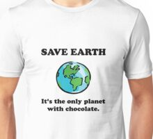 Save Earth Chocolate Unisex T-Shirt