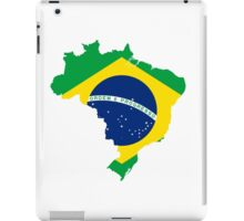 Brazil Flag Map iPad Case/Skin